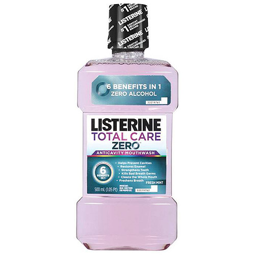 Listerine Total Care Zero Fresh Mint Flavor Antiseptic Adult Mouthwash, 500 ml
