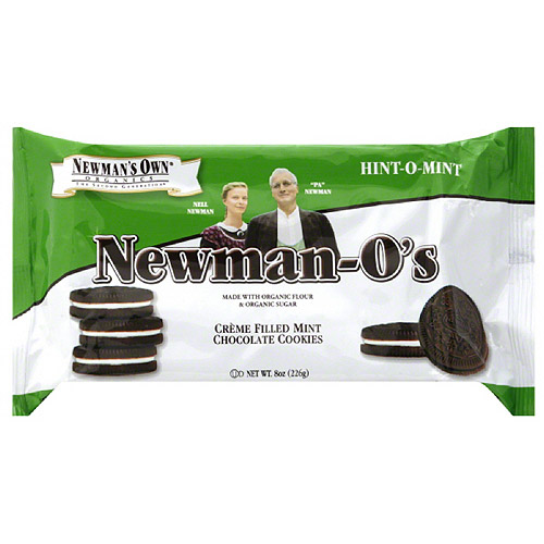 Newman's Own Organics Newman-O's Hint-O-Mint Cookies, 8 oz (Pack of 6)