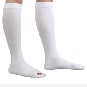 050c8c9a1 CAP Anti-Embolism Knee-Length Compression Stockings White