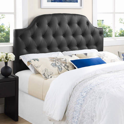 Lyric Button Tufted Faux Leather Headboard, Multiple Colors