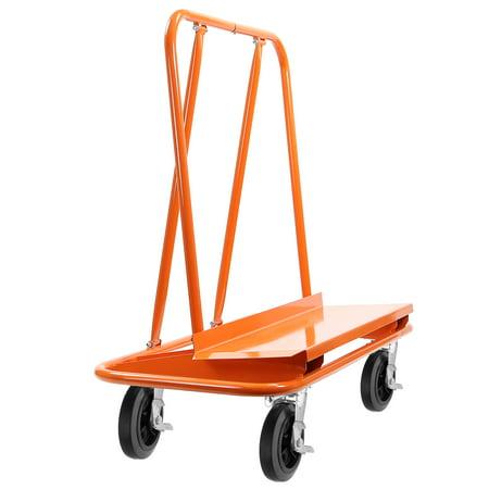GypTool Heavy Duty Drywall Sheet Cart & Panel Dolly with 4 Swivel Wheels - Orange