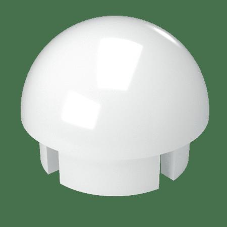 FORMUFIT F114BEC-WH-10 PVC Internal Ball End Cap, Furniture Grade, 1-1/4