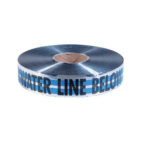 Empire Level Detectable Warning Tapes - 2''x1000' blue caution water line buried belo