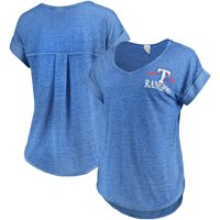 Women's Concepts Sport Heathered Royal Texas Rangers Crosspoint T-Shirt
