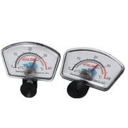 Unique Bargains 2pcs 0-40C Aquarium Analog Index Thermometer Temperature Meter Gauge