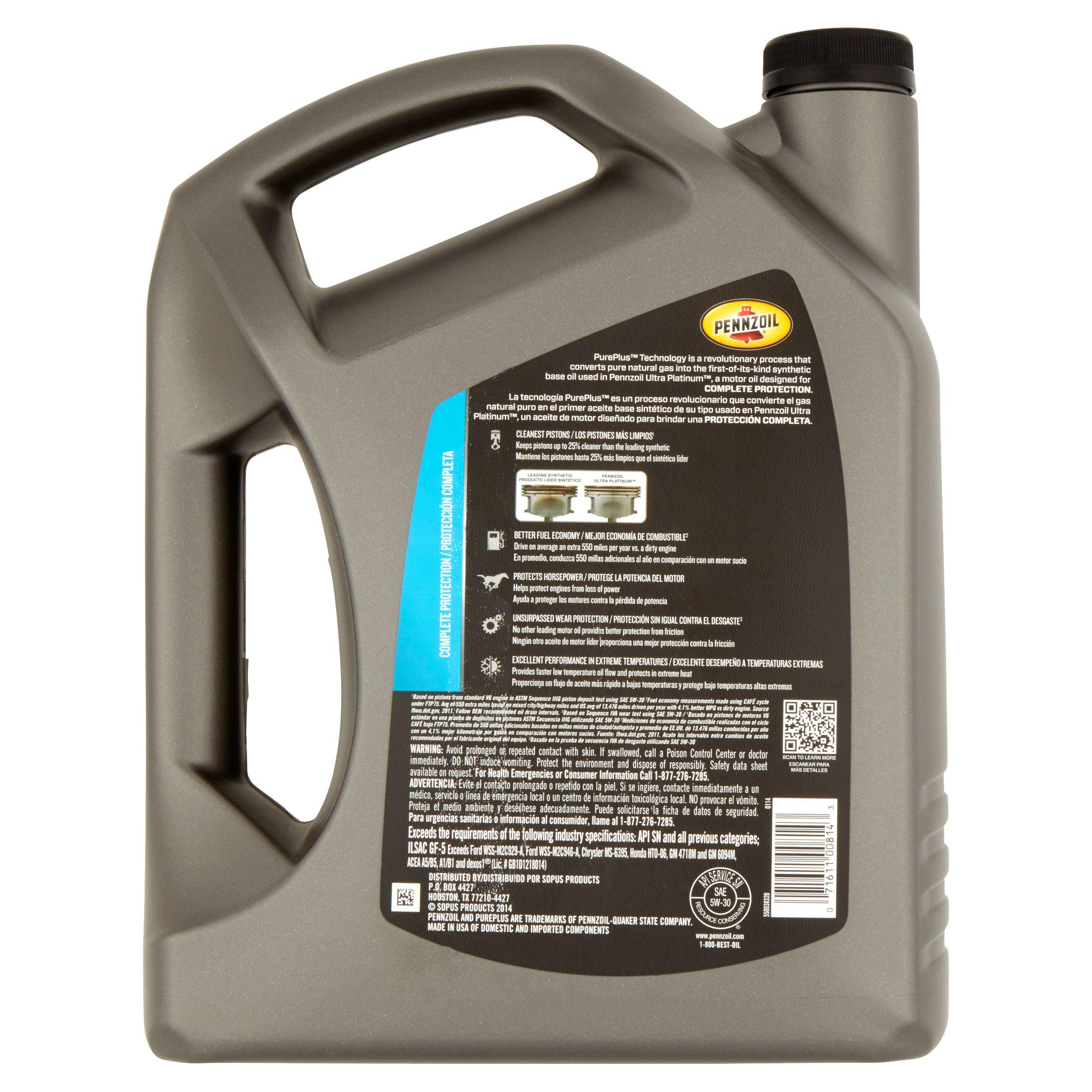Motor oil msds for Pennzoil ultra platinum 0w 40 motor oil