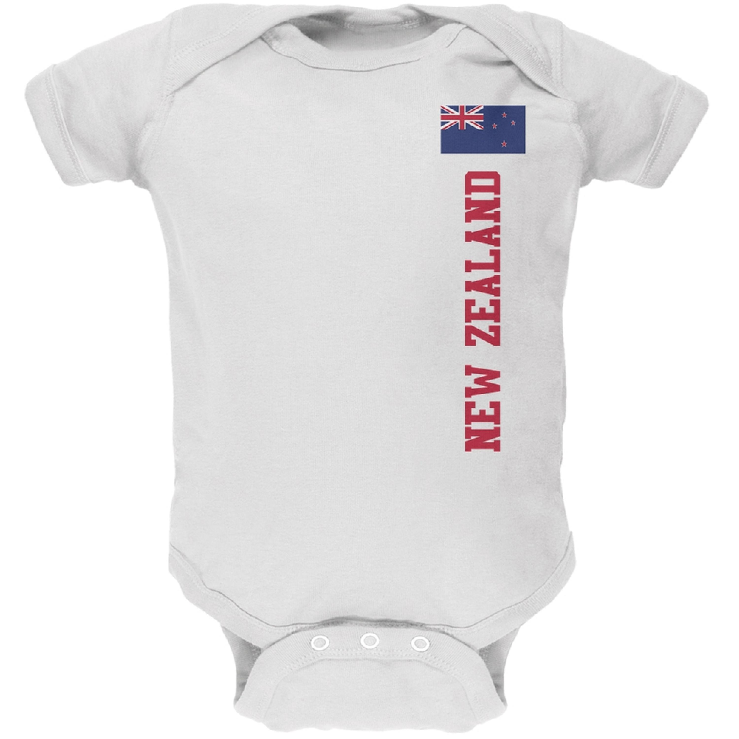 World Cup New Zealand White Soft Baby One Piece