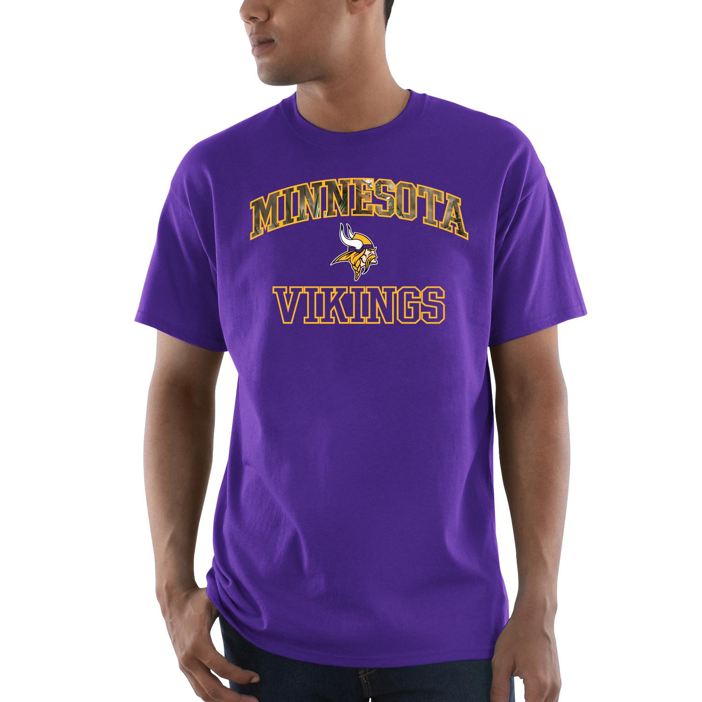Minnesota Vikings Majestic Power Play Mossy Oak Camo T-Shirt - Purple - S