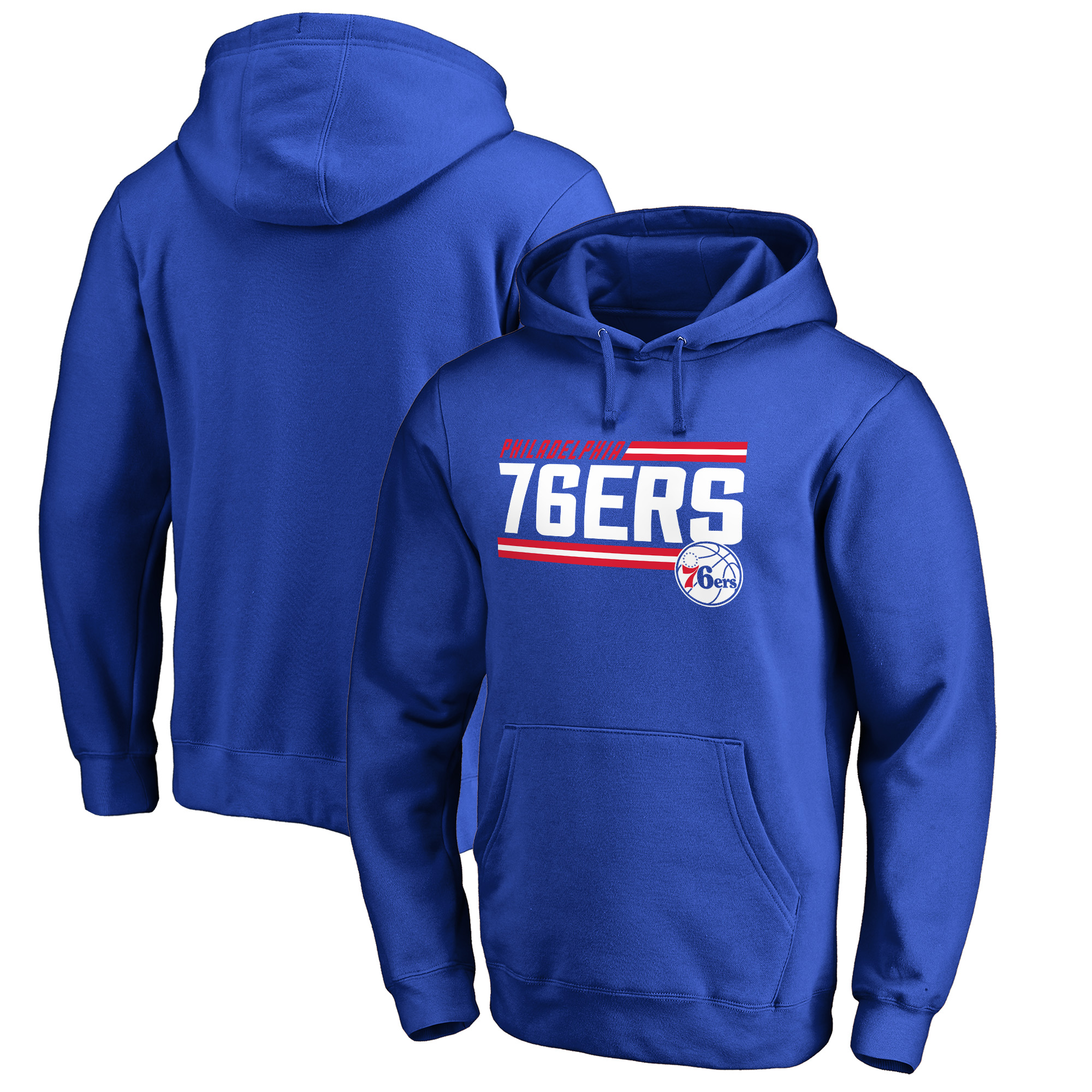 Philadelphia 76ers Fanatics Branded Onside Stripe Pullover Hoodie - Royal