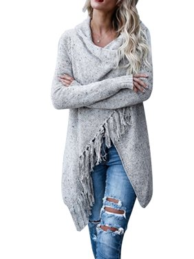 85024dc7710 Product Image Knitted Cardigan Sweater Women Winter Knit Outwear Irregular  Pullover Jumper Lady Long Sleeve Tops Causal Loose