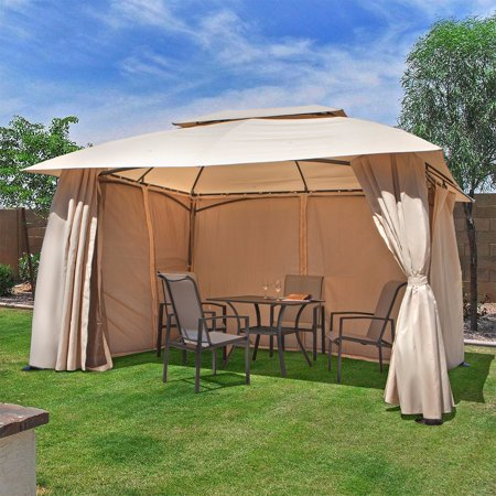 10 X 13 Outdoor Backyard Patio Gazebo Canopy Tent With Netting