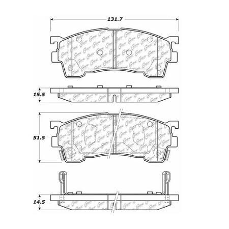 1992 Mazda 626 Brake - Go-Parts OE Replacement for 1993-2002 Mazda 626 Front Disc Brake Pad Set for Mazda 626 (DX)