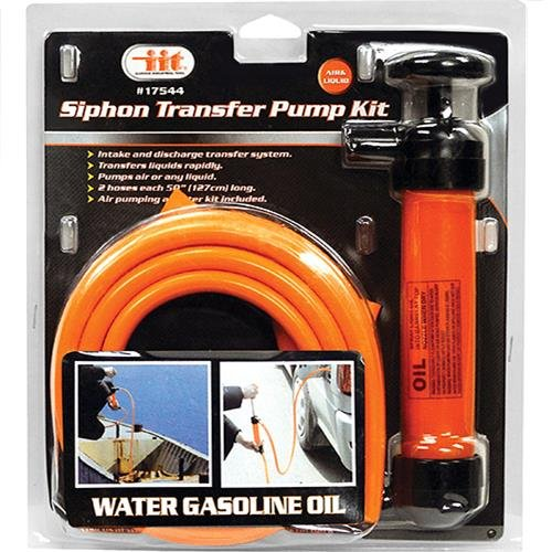 IIT 17544 Siphon Transfer Pump Kit with 2 - 50 Inch Hoses