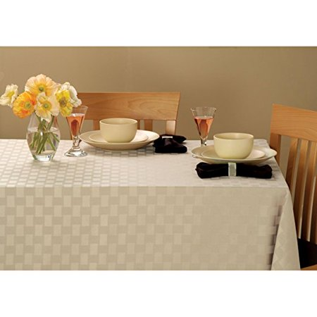 Reflections Spill Proof 60 X 84 Oval Tablecloth Pearl Walmartcom