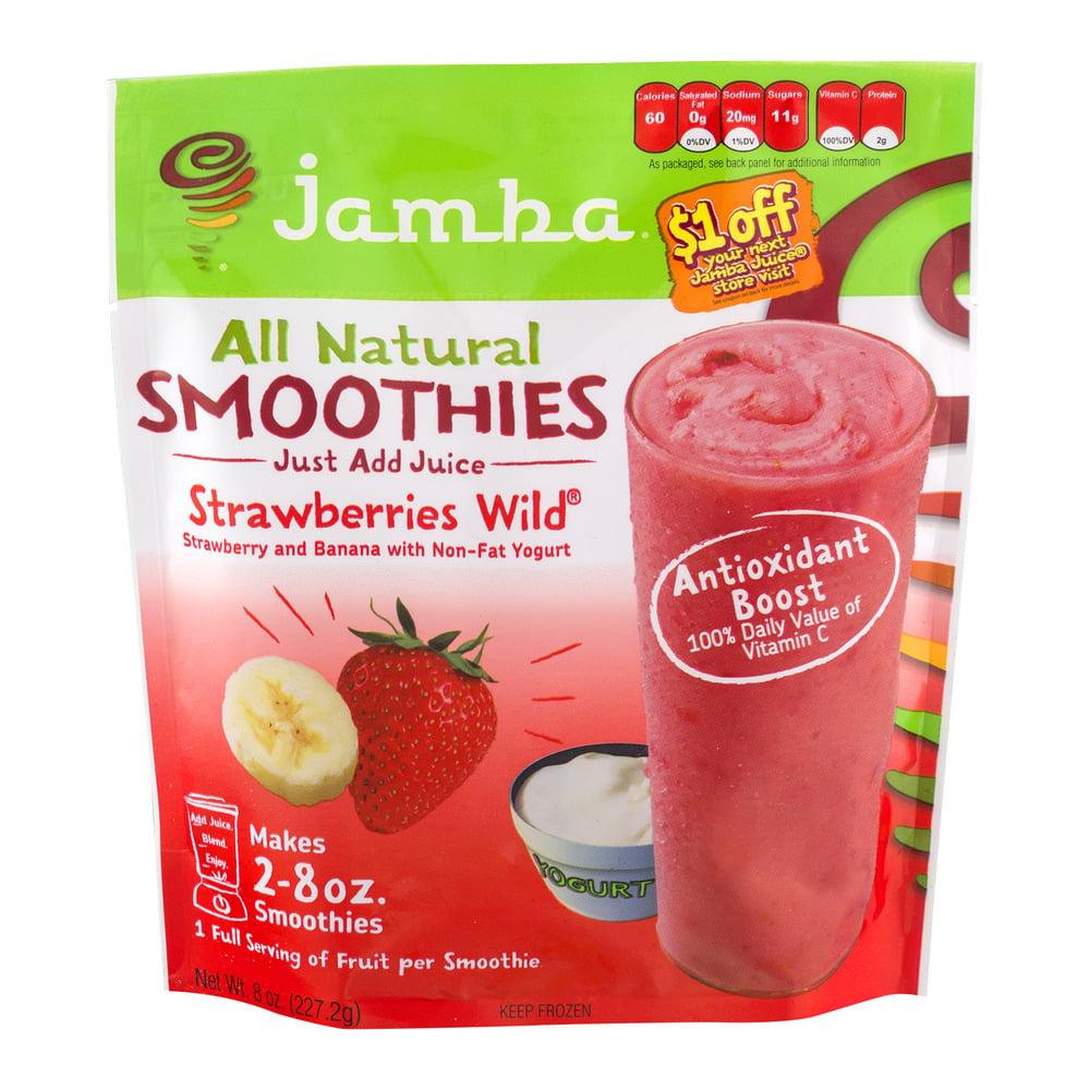 Jamba All Natural Smoothies Strawberries Wild, 8.0 OZ
