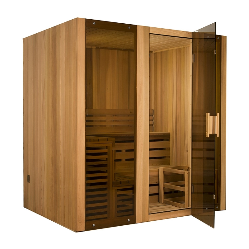 ALEKO 6 Person Canadian Cedar Indoor Wet or Dry Steam Room Sauna with 6KW ETL Certified... by ALEKO