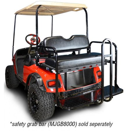 Madjax Genesis 150 Rear Flip Seat Kit for EZGO TXT Golf Carts - Color Options