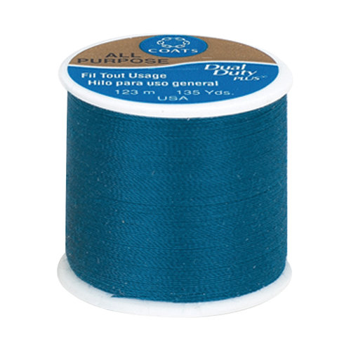 Coats & Clark Dual Duty Plus Thread, 135 yds, Dark Teal