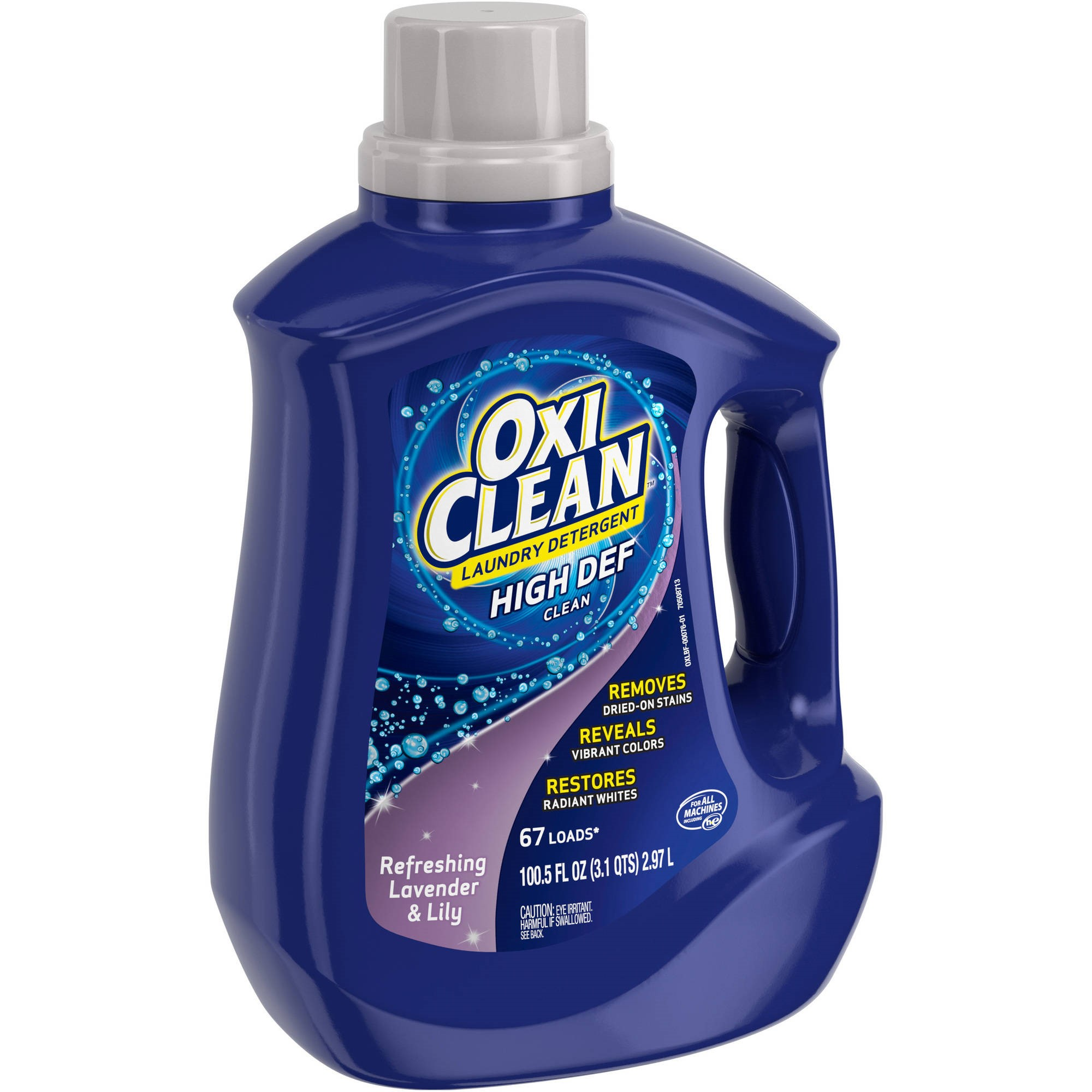 Oxiclean Refreshing Lavender & Lily High Def Clean Liquid Laundry Detergent, 100.5 fl oz