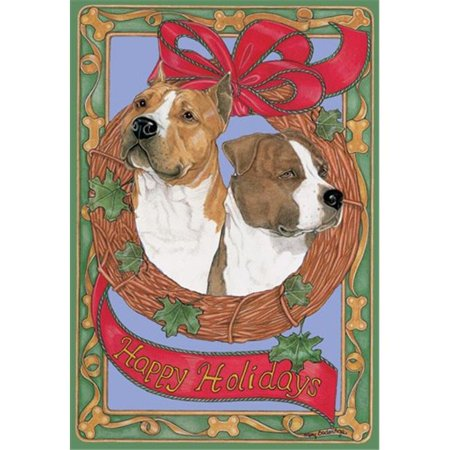 Pipsqueak Productions C997 Holiday Boxed Cards- American Staffordshire Bull Terrier