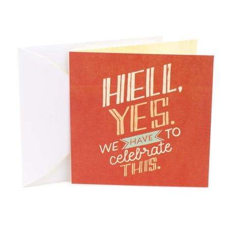 Hallmark Studio Ink, Hell Yes, Birthday Greeting Card