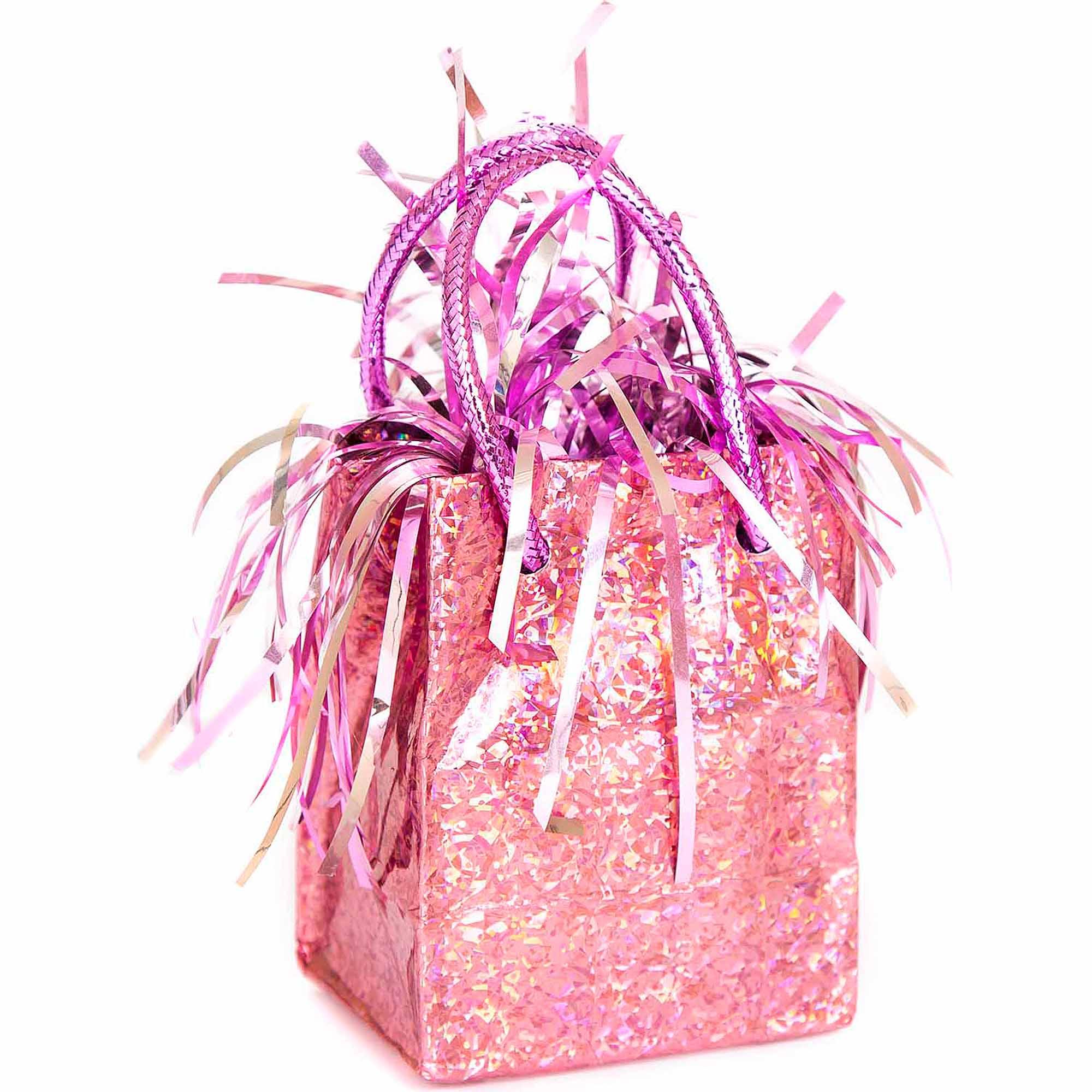 Mini Pastel Pink Prism Gift Bag Balloon Weight