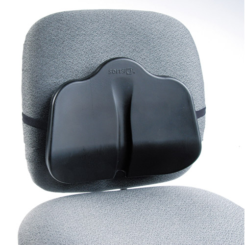Safco Softspot Low Profile Backrest, 13-1/2w x 3d x 11h, Black