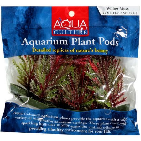 (2 Pack) Aqua Culture Aquarium Plant Pods, 6 Pack