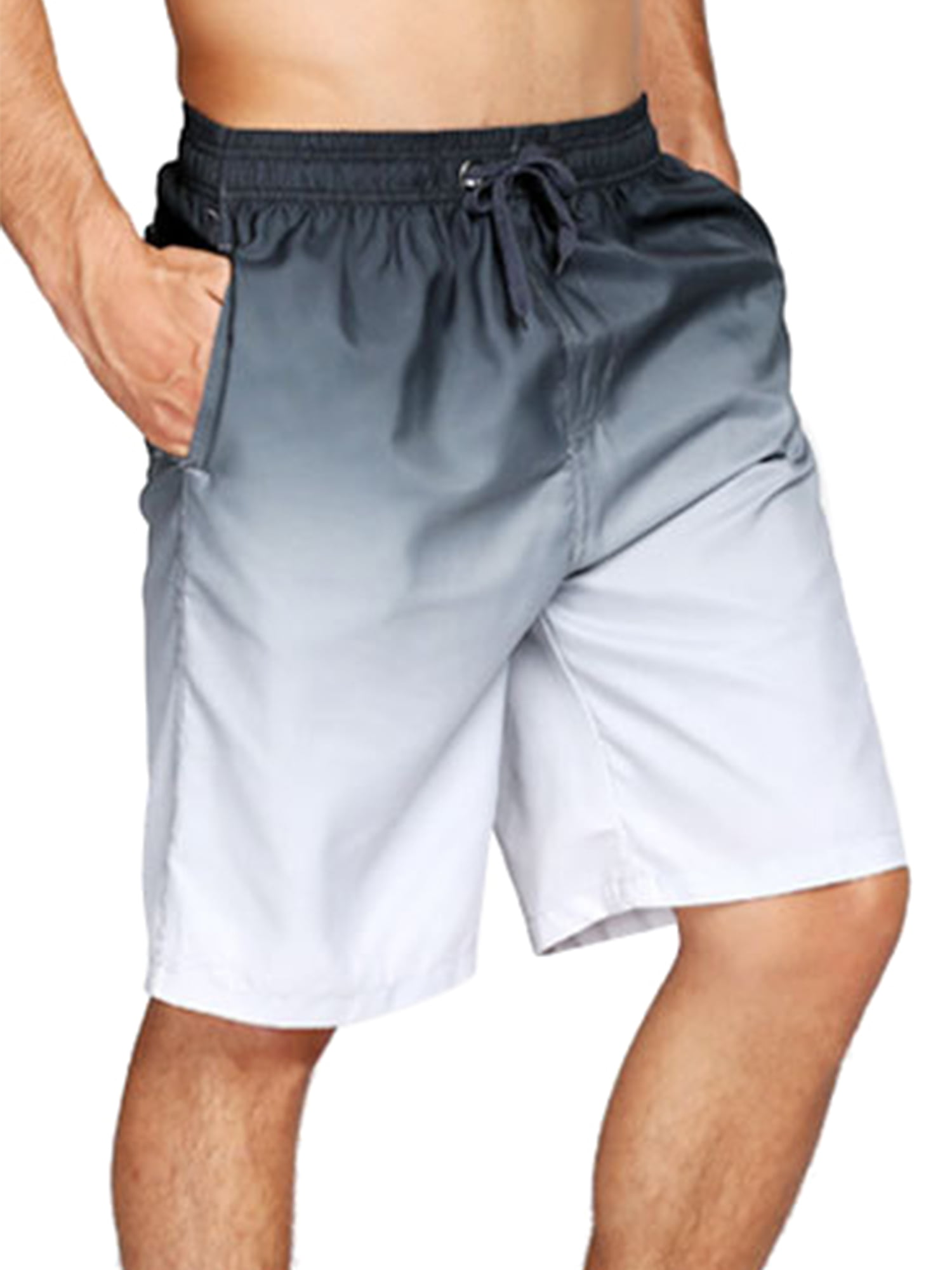 Details about  /Unisex Elastic Waist Drawstring Loose Boxer Shorts Trousers Printed Surf Trunks