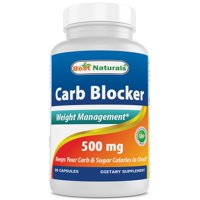 Best Naturals Carb Blocker Weight Loss Supplement, 500 mg, 90 Capsules