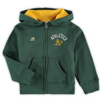 Oakland Athletics Majestic Youth Sweat Full-Zip Hoodie - Green