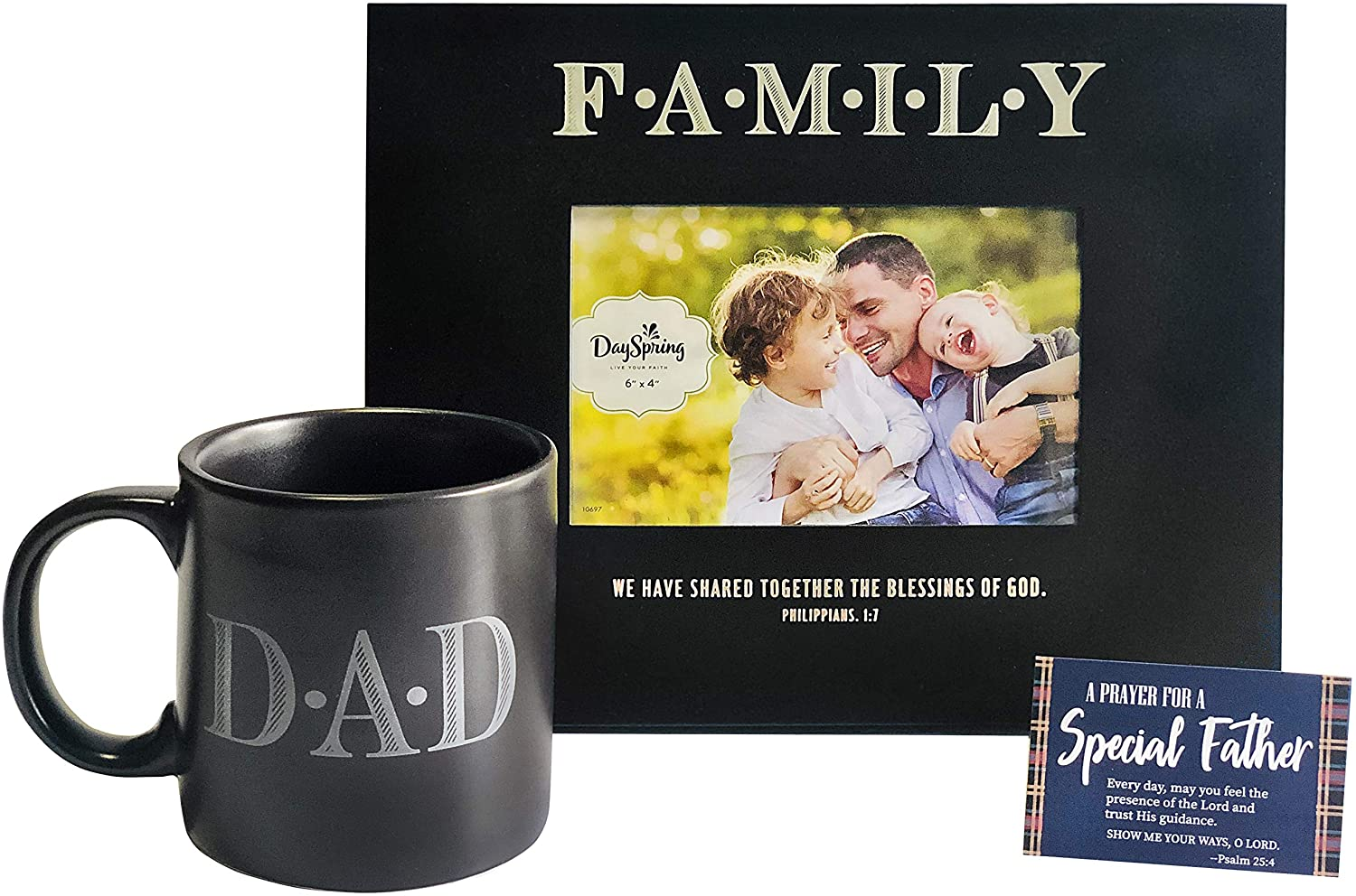 Dad Frame Mug Gifts For Fathers Day And Birthday 12 Oz Dad Ceramic Coffee Cup Family Picture Frame With A 3 X 2 Prayer Card For A Special Father Walmart Com Walmart Com