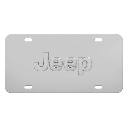 Jeep License Plate Universal Front Stainless Steel Decorative