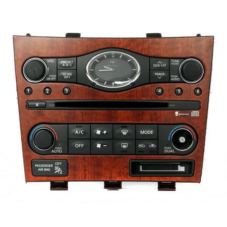 2007-2009 Infiniti EX35 G35 G37 Audio and Temperature Control Panel 25391
