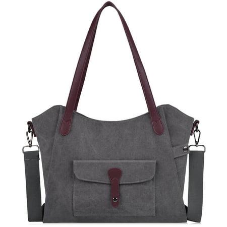 Coofit Womens Top Handle Bag Washed Canvas Tote Adjustable Cross Body Shoulder Handbag Satchel Bag