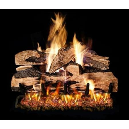 Peterson Real Fyre 18-inch Split Oak Designer Plus Gas Log Set With Vented Propane G4 Burner - Manual Safety (Oak Propane Vent)