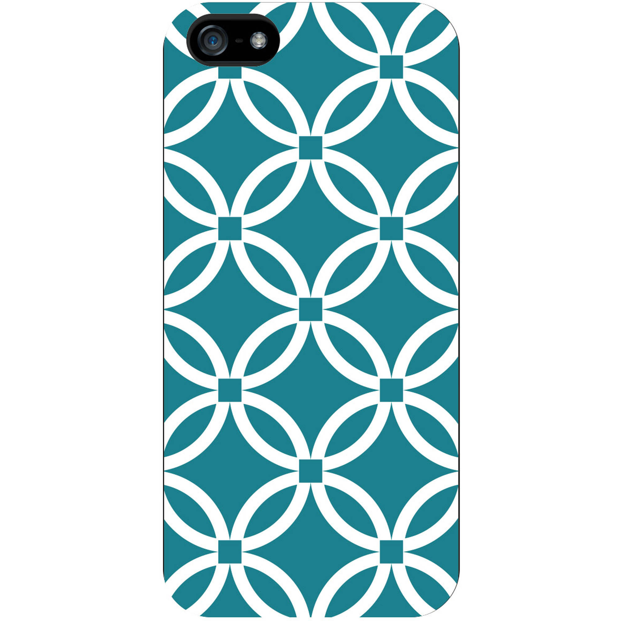 OTM iPhone 5 White Glossy Case Elm Bold Collection, Teal