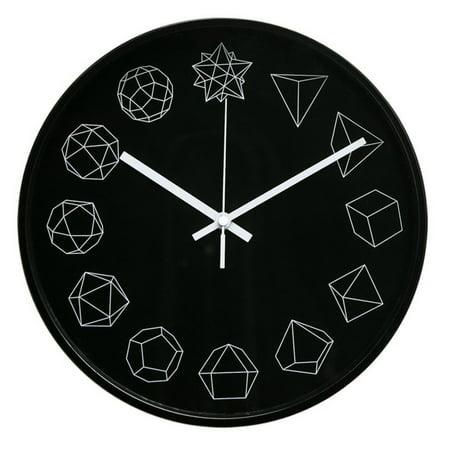 - Arospa 12 in. Modern Geometric Shapes Design Wall Clock