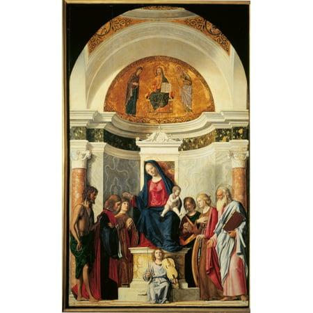 Pala Montini (Madonna With Child Among Sts John The Baptist Canvas Art...