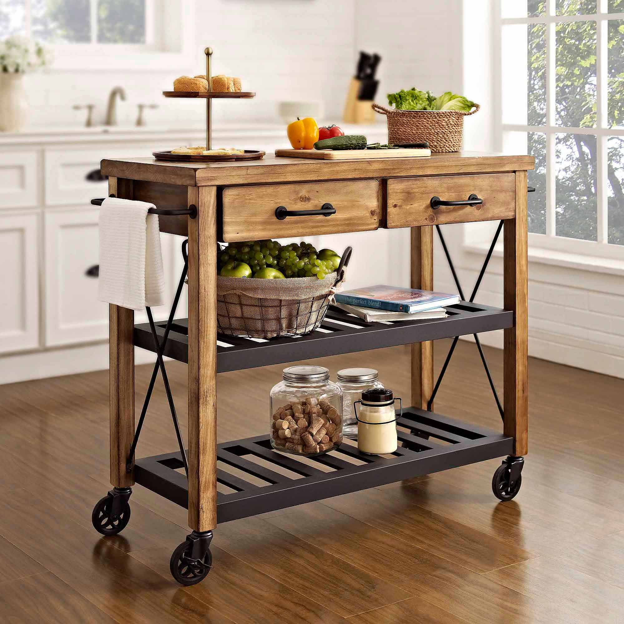 Crosley Furniture Kitchen Island Crosley Furniture Roots Rack Industrial Kitchen Cart Walmartcom
