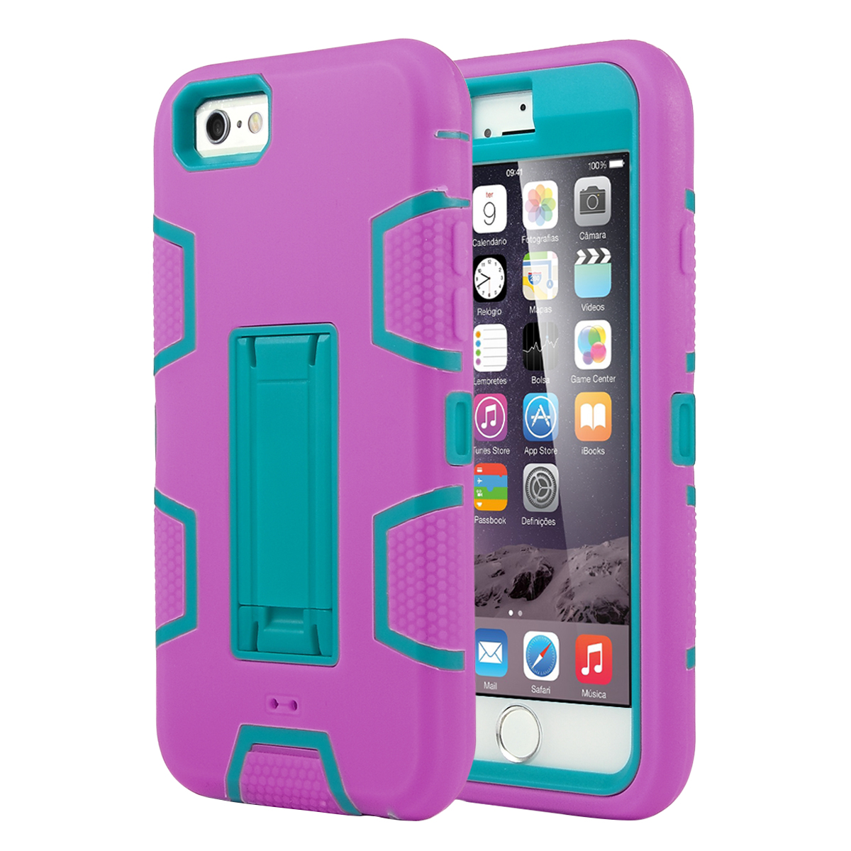 iPhone 6 Case, iPhone 6s Case, ULAK Robot Guard Shock Absorbing Case Hybrid 3in1 PC and Silicone Cover with Built-in Stand for Apple iPhone 6 & 6S 4.7 inch