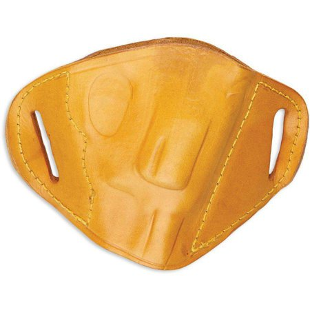 380 Leather Belt Slide Holster - BULLDOG BELT SLIDE LARGE AUTOMATIC HANDGUN HOLSTER RIGHT HAND LEATHER TAN