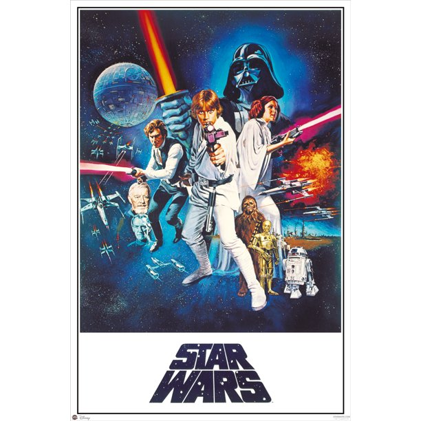 Star Wars Episode Iv A New Hope Movie Poster Print Regular Style C No Cast Credits Size 24 X 36 Walmart Com Walmart Com
