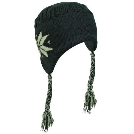 Snowflake Tibetan Knit Hat With - Tassel Knit Hat