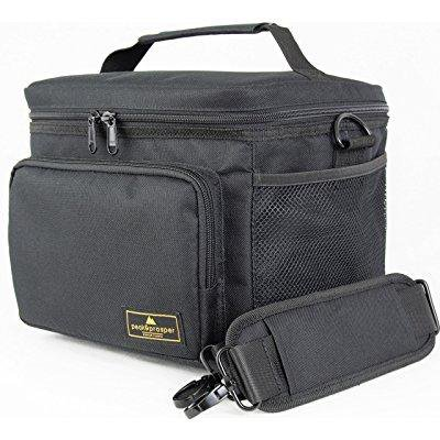 Premium Lunch Cooler Box Medium Black Insulated Bag Water Resistant And Heavy Duty