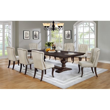 Best Quality Furniture Clasic Style 9 Piece Dining Set