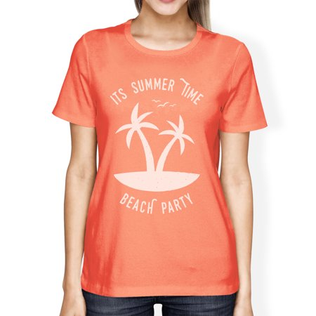 Its Party Time (Its Summer Time Beach Party Womens Peach Funny Graphic Summer)