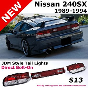 1989 to 1994 Nissan 240sx S13 89-94 Fastback JDM Red Tail Light Rear Brake Lamp (S13 Conversion)