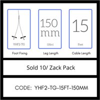 Gripple No. 2 x 15' Y-Toggle Hangers (YHF2-TG-15FT-150MM) Pack of 10, USA Made