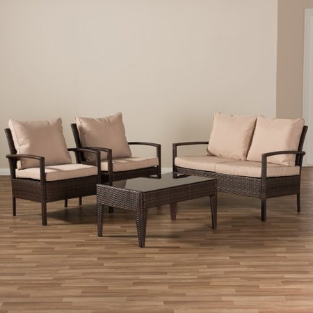 Bayou Breeze Dessie 4 Piece Sofa Set With Cushions